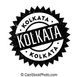 Kolkata rubber stamp. Grunge design with dust scratches....