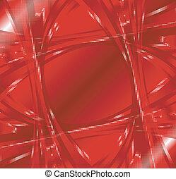 kolken, abstract, rode achtergrond, golf