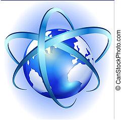 kolken, globe, vector