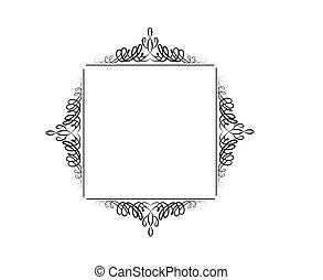 kolken, ouderwetse , frame, vector