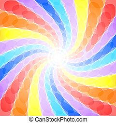 kolken, regenboog, abstract, achtergrond
