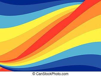 kolken, regenboog, achtergrond