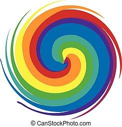 kolken, regenboog