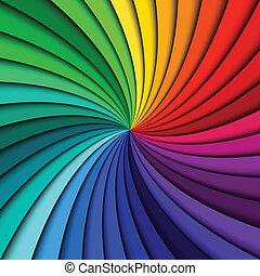 kolken, regenboog, kleurrijke