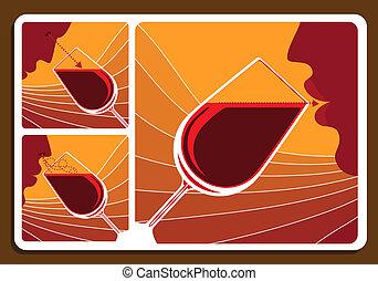 kollázs, bor ízlel