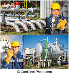 kollázs, iparág, olaj