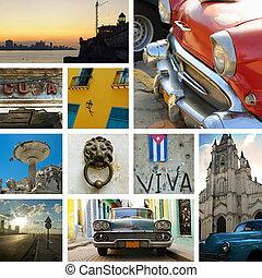 kollázs, kuba