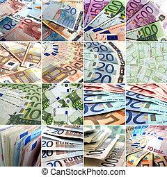 kollázs, pénz