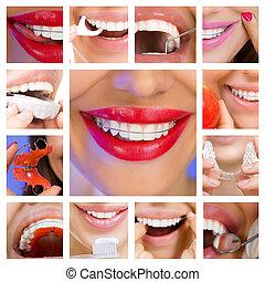 kollázs, services), fogászati, (dental, törődik