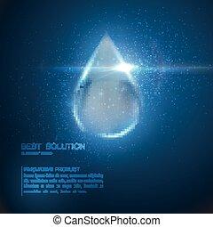 kollagen, droplet., serum