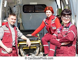 kollega, professionel, coworker, kvindelig, paramedic