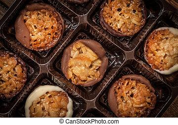 kollektion, av, smaklig, cookies.
