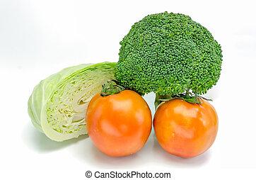 kollektion, av, vegetables.