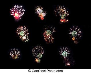 kollektion, fireworks
