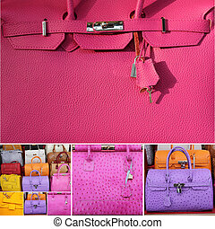 kollektion, handväskor
