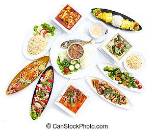 kollektion, thailändsk mat