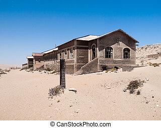 kolmanskop, pueblo fantasma, en, namibia