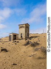 kolmanskop, torre de comunicaciones