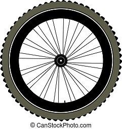 kolo, pneumatika, osamocený, jezdit na kole, paprsci kola,...