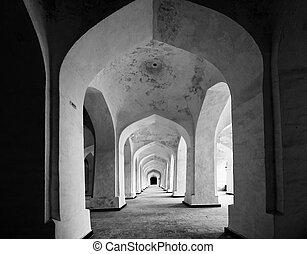 kolon, mosquée, couloir