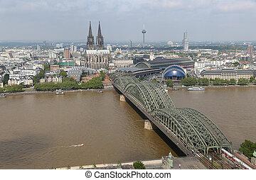 kolonia, hohenzollern, kolonia, niemcy, katedra, most