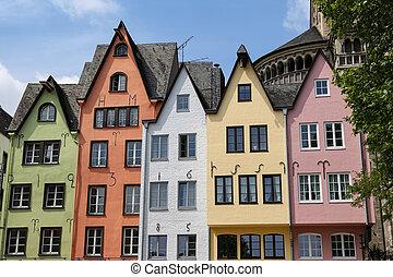 kolonia, niemcy, domy