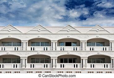 kolonialer stil, hotel, himmelsgewölbe, architektur