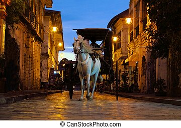 kolonialny, ulica, chrisologo, vigan, filipiny