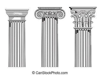 kolonn, kapitalen