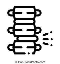 kolonn, problem, skiva, cirkulär, smärta, ryggrads, vektor