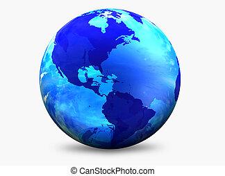 kolor, światowa kula, aqua