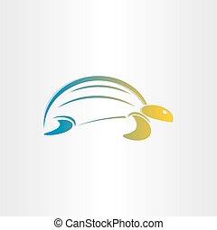 kolor, żółw, symbol, stylizowany