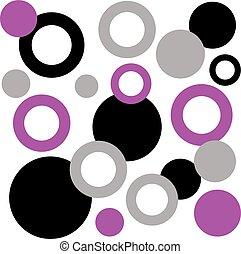 kolor, abstrakcyjny, rings., tło