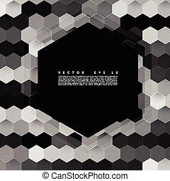 kolor, abstrakcyjny, wektor, hexagonal., 3d