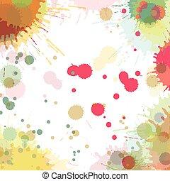 kolor, akwarela, abstrakcyjny, bryzg, wektor