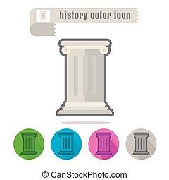 kolor, biały, historia, tło, ikona