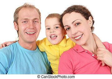 kolor, chłopiec, 2, rodzina
