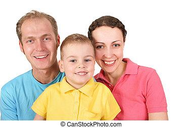 kolor, chłopiec, rodzina