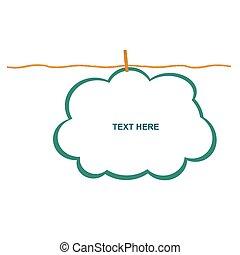 kolor, chmura, projektować, clothspin, ilustracja