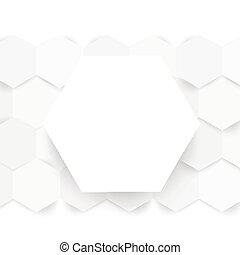 kolor, hexagonal., abstrakcyjny, wektor, 3d