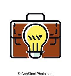 kolor, innowacja, handlowy, ikona