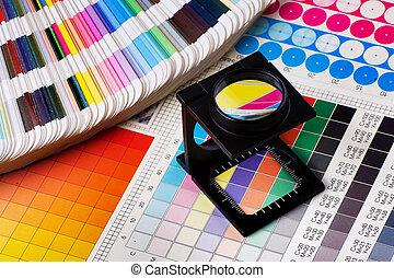 kolor, kierownictwo, komplet