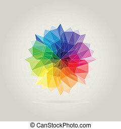 kolor, koło, wielobok