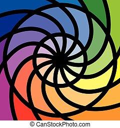kolor, kolor, dwanaście, albo, koło, koło