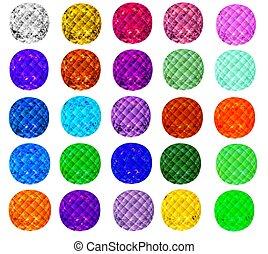 kolor, komplet, różny, kamienie, drogocenny, ilustracja