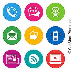 kolor, komunikacja, ikony