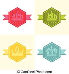 kolor, lekki, korona, ikony