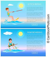 kolor, lekkoatletyka, wakeboarding, kitesurfing, afisze