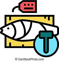 kolor, licytacja, stosunek, ikona, wektor, ilustracja, fish, tuńczyk