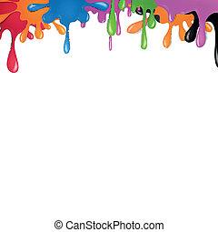kolor, malować, wektor, plamy